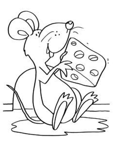 Мышонок картинки раскраски (12)