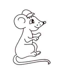 Мышонок картинки раскраски (14)
