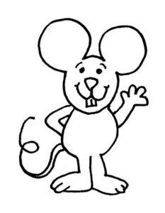 Мышонок картинки раскраски (2)