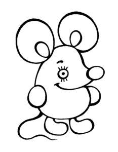 Мышонок картинки раскраски (22)