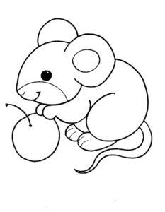 Мышонок картинки раскраски (23)
