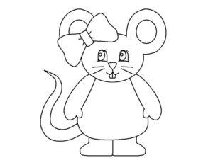 Мышонок картинки раскраски (26)