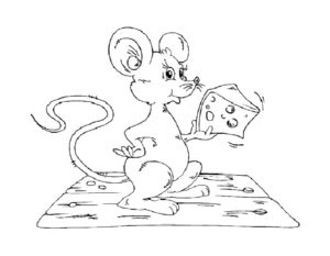 Мышонок картинки раскраски (27)