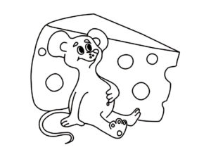 Мышонок картинки раскраски (3)