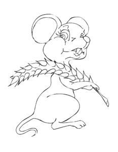Мышонок картинки раскраски (7)