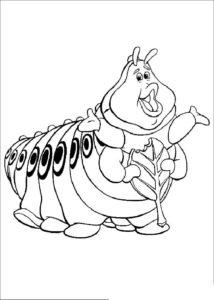 Насекомые гусеница картинки раскраски (22)