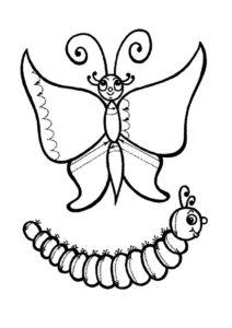 Насекомые гусеница картинки раскраски (25)