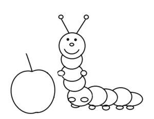 Насекомые гусеница картинки раскраски (3)