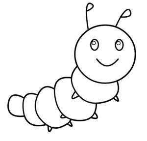 Насекомые гусеница картинки раскраски (34)