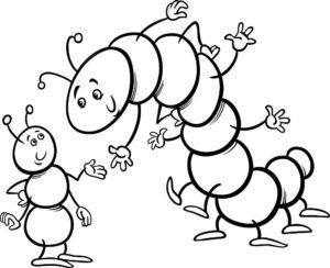 Насекомые гусеница картинки раскраски (36)
