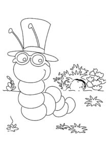 Насекомые гусеница картинки раскраски (4)