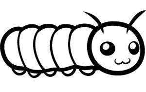 Насекомые гусеница картинки раскраски (48)