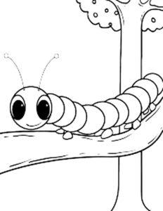 Насекомые гусеница картинки раскраски (54)