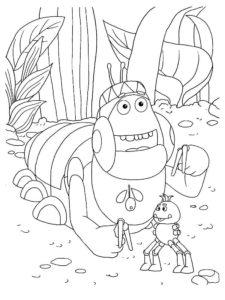 Насекомые гусеница картинки раскраски (68)