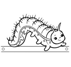 Насекомые гусеница картинки раскраски (7)