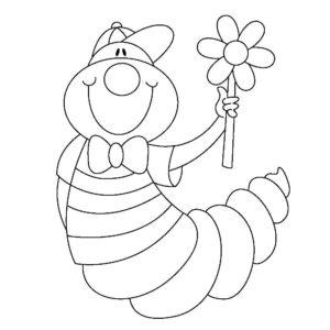 Насекомые гусеница картинки раскраски (72)