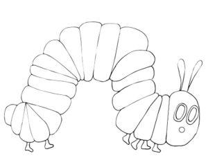 Насекомые гусеница картинки раскраски (73)