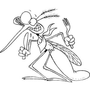 Насекомые комар картинки раскраски (14)