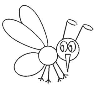 Насекомые комар картинки раскраски (2)