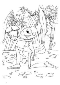 Насекомые кузнечик картинки раскраски (10)