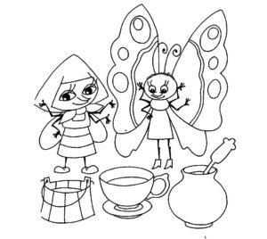 Насекомые муха картинки раскраски (18)
