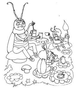 Насекомые муха картинки раскраски (19)