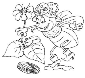 Насекомые муха картинки раскраски (2)