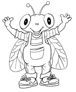 Насекомые муха картинки раскраски (21)