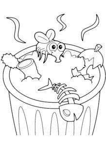Насекомые муха картинки раскраски (5)