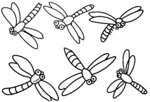 Насекомые стрекоза картинки раскраски (12)