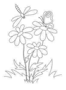Насекомые стрекоза картинки раскраски (39)