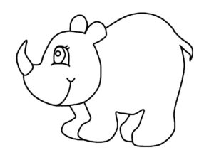 Носорог картинки раскраски (10)