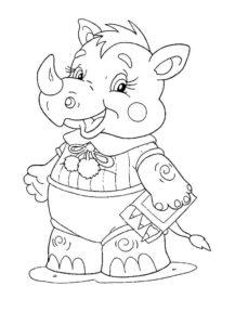 Носорог картинки раскраски (13)