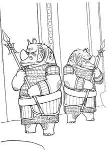 Носорог картинки раскраски (14)