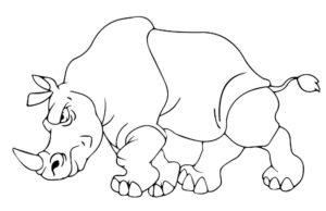 Носорог картинки раскраски (16)