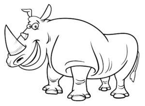 Носорог картинки раскраски (25)