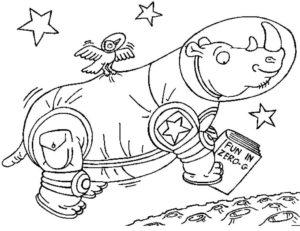 Носорог картинки раскраски (26)