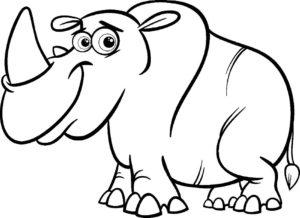 Носорог картинки раскраски (28)