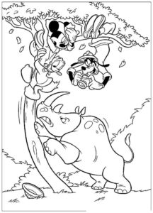 Носорог картинки раскраски (3)