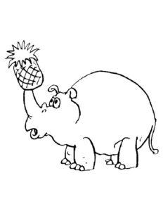 Носорог картинки раскраски (31)