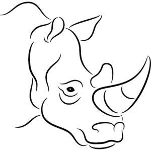 Носорог картинки раскраски (32)