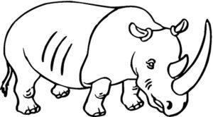 Носорог картинки раскраски (52)