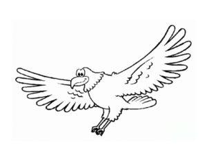 Орел картинки раскраски (1)