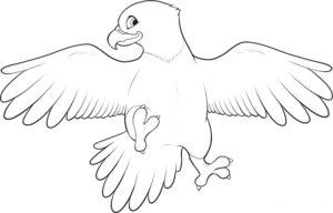 Орел картинки раскраски (23)