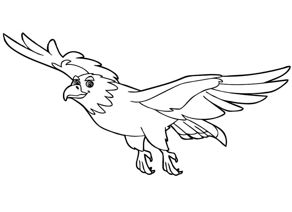 орел картинки из раскрасок принтер новый, вариант