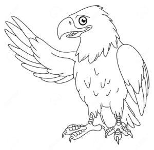 Орел картинки раскраски (32)