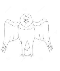 Орел картинки раскраски (34)