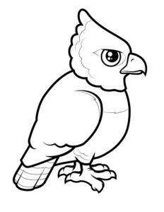 Орел картинки раскраски (47)