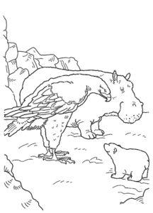 Орел картинки раскраски (48)