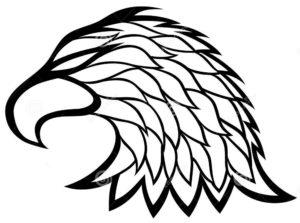 Орел картинки раскраски (56)
